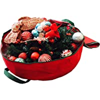 K-Cliffs Heavy Duty Christmas Tree Storage Bag Quality Big Xmas Ornament Garland Wreaths Holiday Decoration Duffel Bags Fit Upto 9 Foot Artificial Tree Red Extra Large