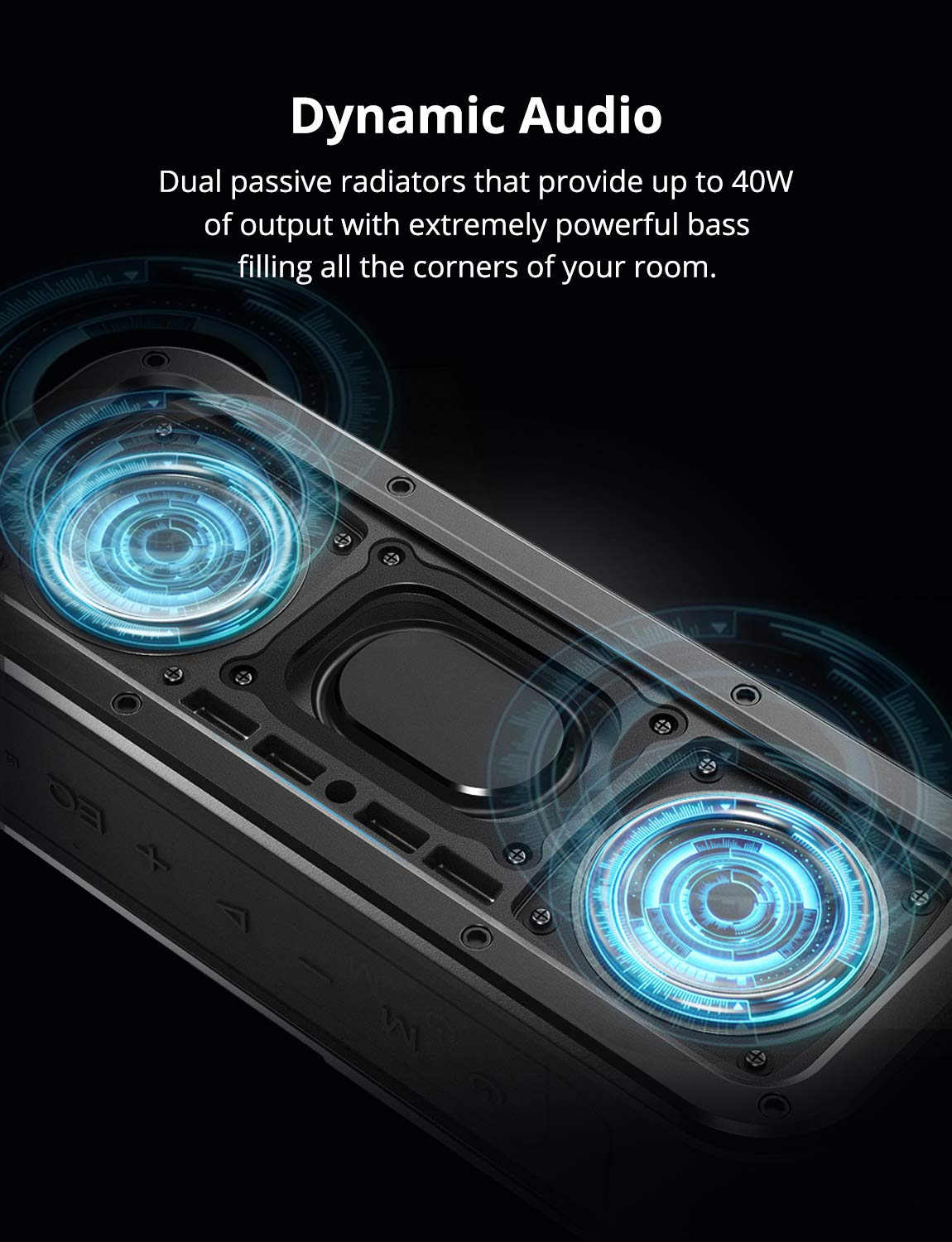 Portable Bluetooth Speakers, Tronsmart Force SoundPulse 40W IPX7 Waterproof Bluetooth 4.2 Wireless Speakers with 15-Hour Playtime, TWS, Dual-Driver with Built-in Mic, NFC, Deep Bass (Force) by Tronsmart (Image #3)