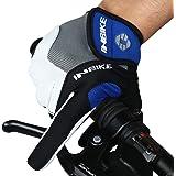 INBIKE Men's Cycling Gloves, Full Finger Gel Padded Mountain Bike