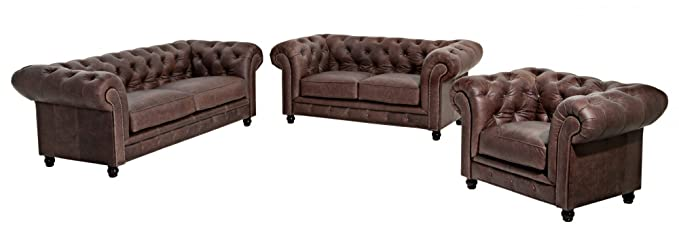 Max Winzer - Sofa 2,5 Sitzer Old England Echt Leder: Amazon.de ...