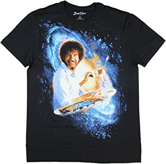 Bob Ross Galaxy Paining Graphic T-Shirt