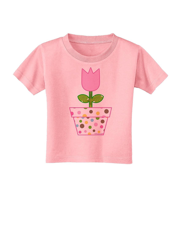 Pink Toddler T-Shirt TooLoud Easter Tulip Design