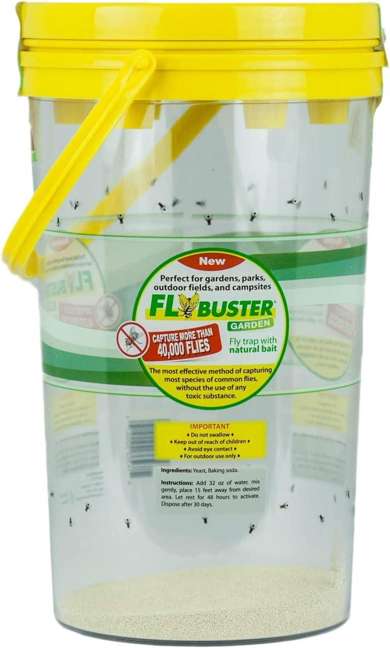 Flybuster Fly Trap - Outdoor Living, Non-Toxic Fly Trap, Pest Control Trap for Garden