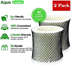 AQUA GREEN Holmes HWF64,Filter B Compatible Humidifier Filter - 2-Pack