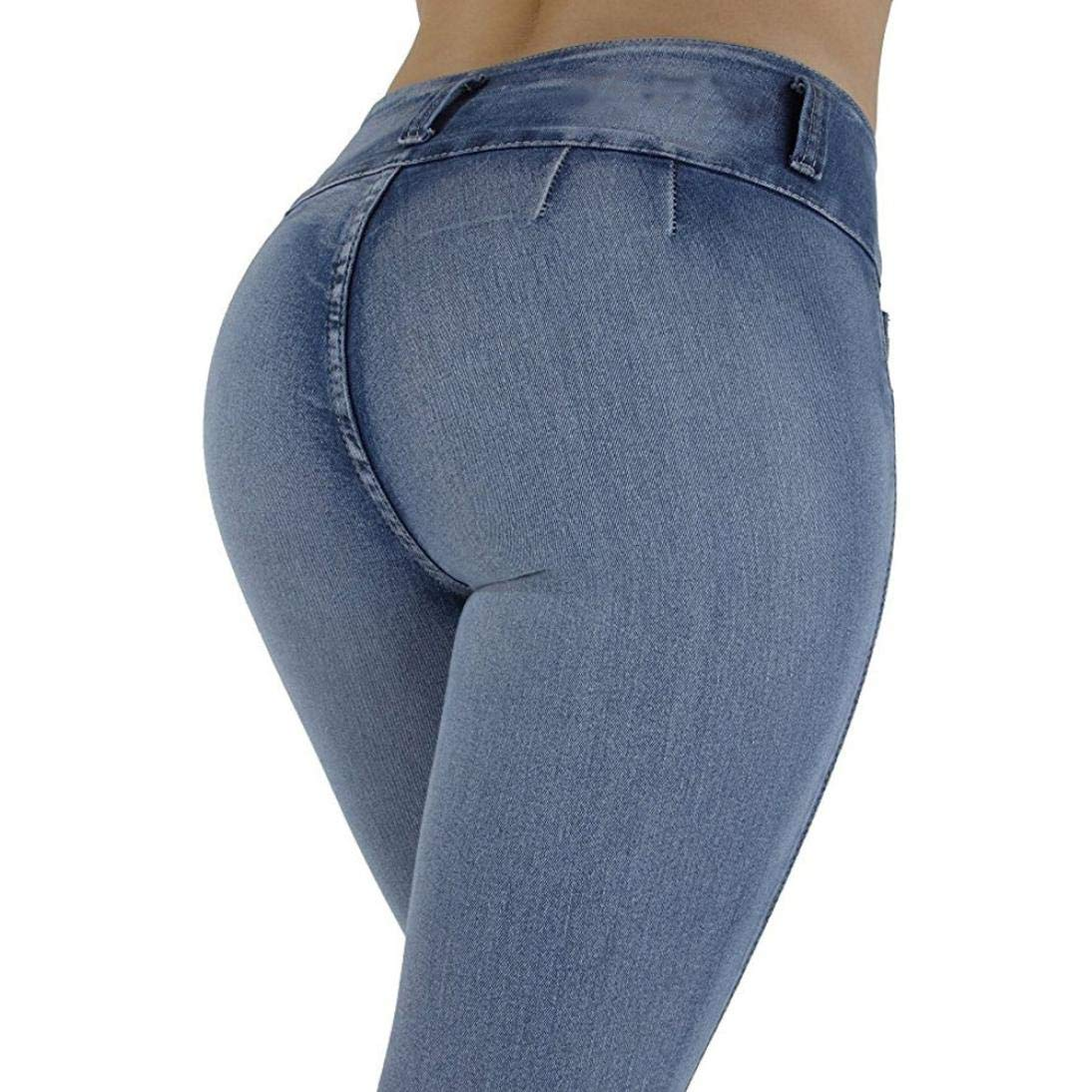 scaling Jeans for Women Women High Waisted Skinny Denim Jeans Stretch Slim Pants Calf Length Jeans