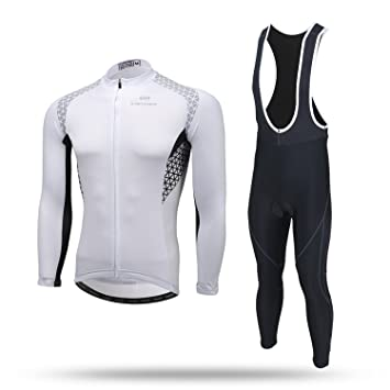 e6563be398 Cycket Autumn Winter Mens Breathable Quick Cycling Jersey Long Sleeve Jacket  Tops and Pants Bicycle Racing