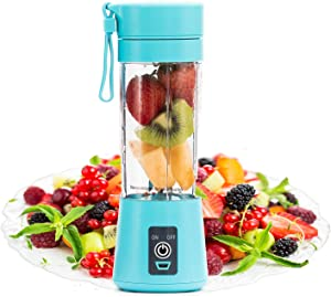 Portable Blender by FlowerIce,Personal Size Blender Juicer Cup,Smoothies and Shakes Blender,Handheld Fruit Machine,Ice Blender Mixer Home (blue)