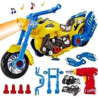 HERSITY Juguete Desmontable Motocicleta Juego de Construcción