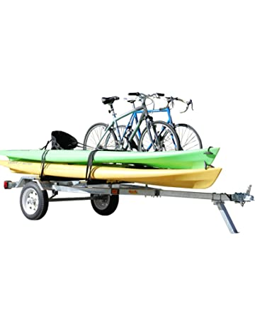 Ruff-Sport Trailer - Galvanized Finish for Kayak, Bicycle, and SUP