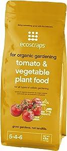 EcoScraps for Organic Gardening Tomato & Vegetable Plant Food, 4 lbs