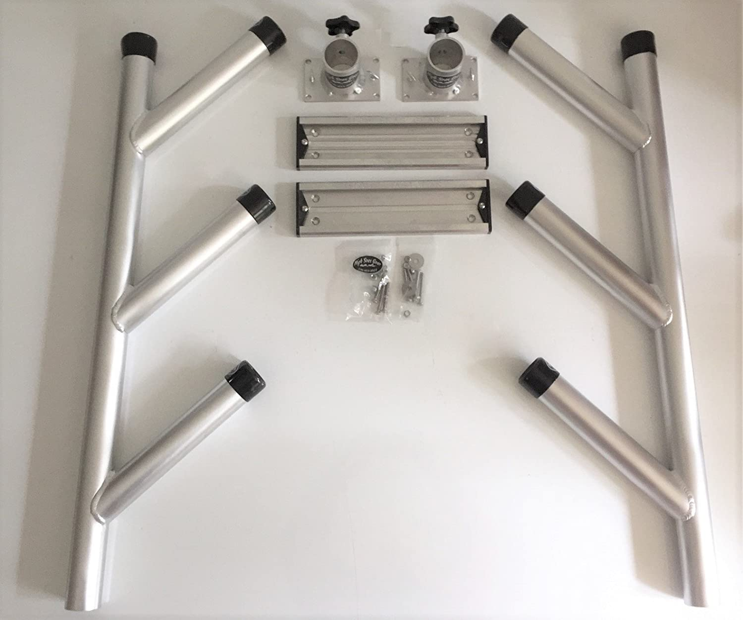 2-HD Triple Tree rod holders for track systems with Heavy Duty end caps