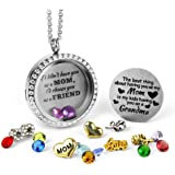 Unique for Grandma Gifts, Perfect Gift for Mom Birthstone, Floating Charm Locket for Mom Gifts