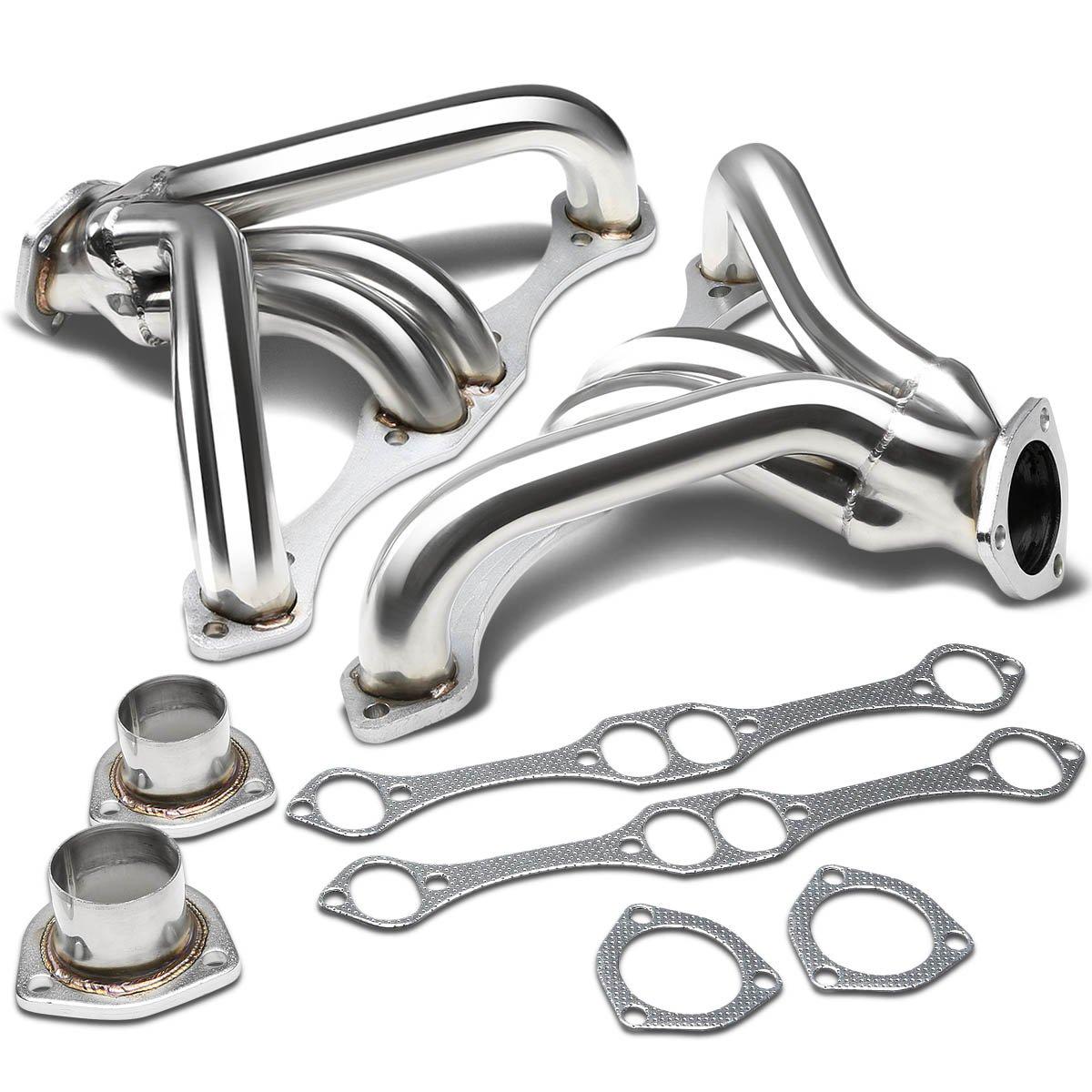 DNA motoring HDS-SBC-AP Stainless Steel Exhaust Header Manifold