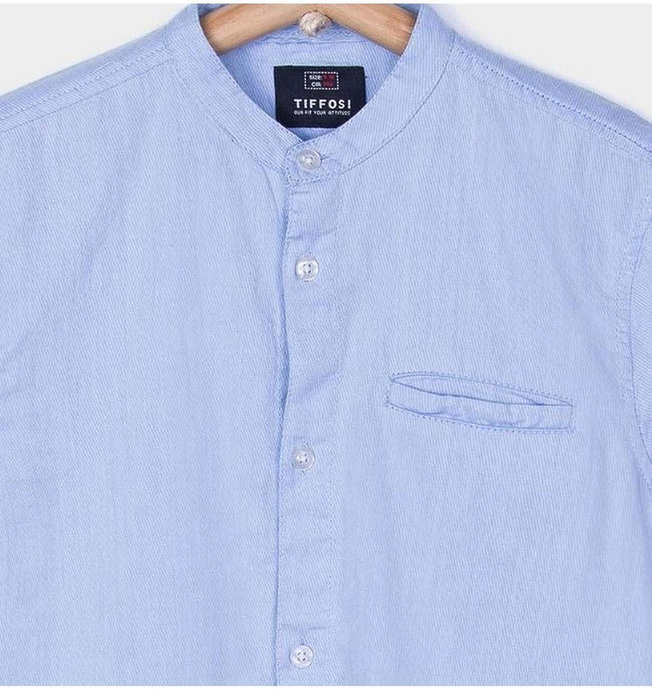 Tiffosi Camisa Niño Azul Celeste con DUARTES 10 Azul: Amazon.es: Ropa y accesorios