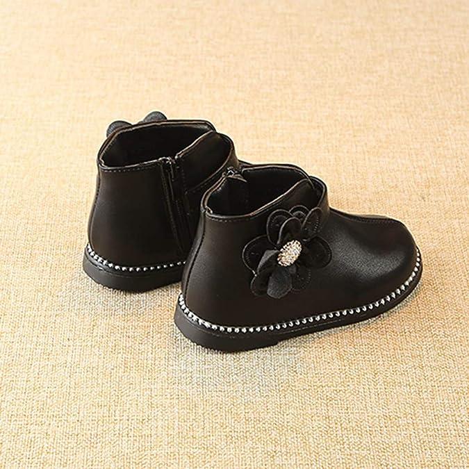 Botas Niña Invierno K-youth Botines de Flores con Cremallera Caliente Zapatos Martin Botines Boots Zapatos Niña Fiesta Bautizo Zapatillas de Deporte ...