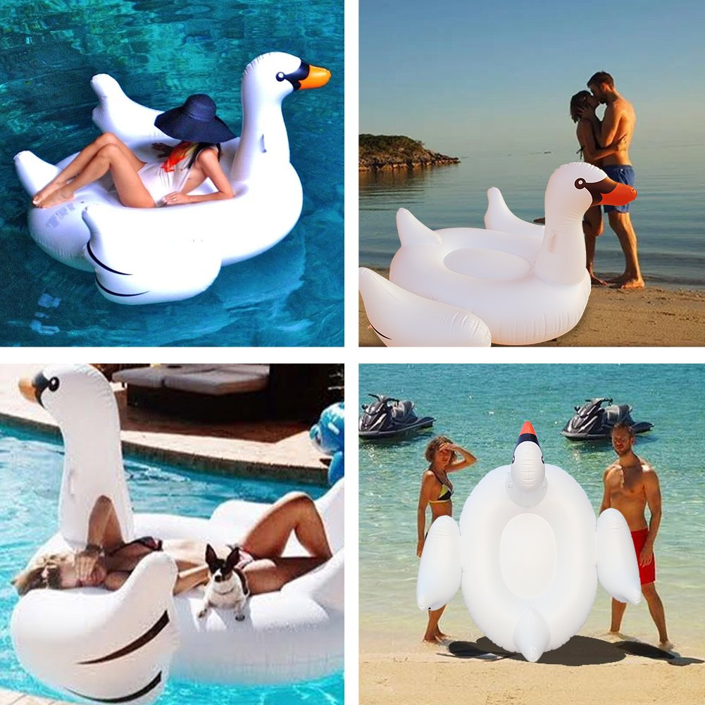 Amazon.com: Geefia Flotador hinchable para piscina, natación ...