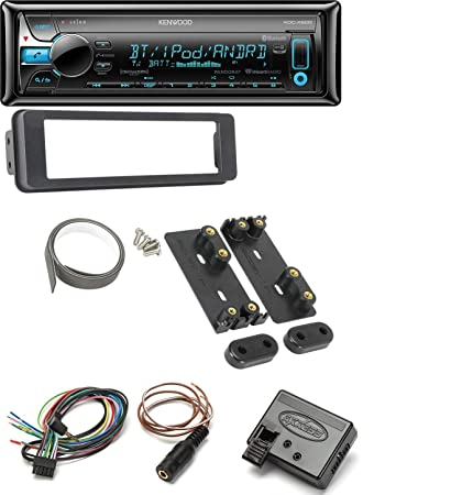 98-2013 harley dash kit with kenwood kdc-x500 single din bluetooth in-