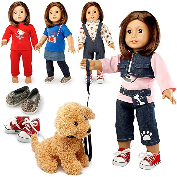 Girl in costume Christmas doll clothes 18 inch doll wardrobe makeover