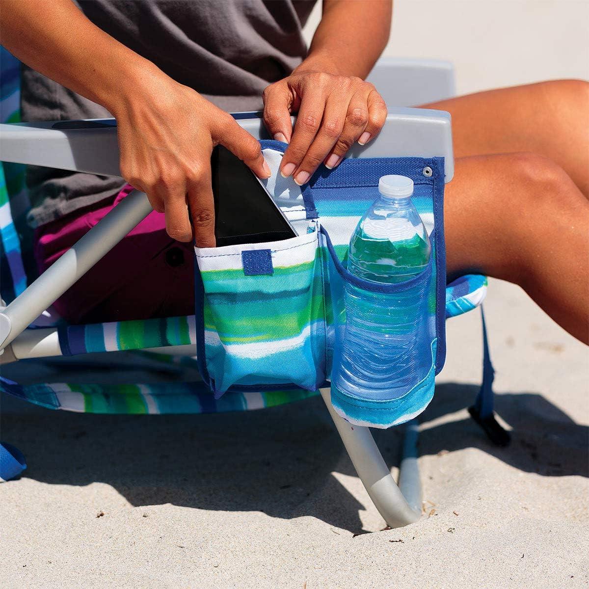 Tommy Bahama Silla de Playa Tipo Mochila Reclinan 5 Posiciones (Stripes)