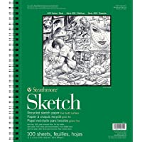 """Strathmore 400 Series Recycled Sketch Pad, 11"""" 14"""" Wire Bound, 100 Sheets"""