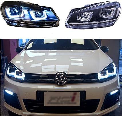 vland LED faro Delantero Asamblea para VW Volkswagen Golf 6 Mk6 ...