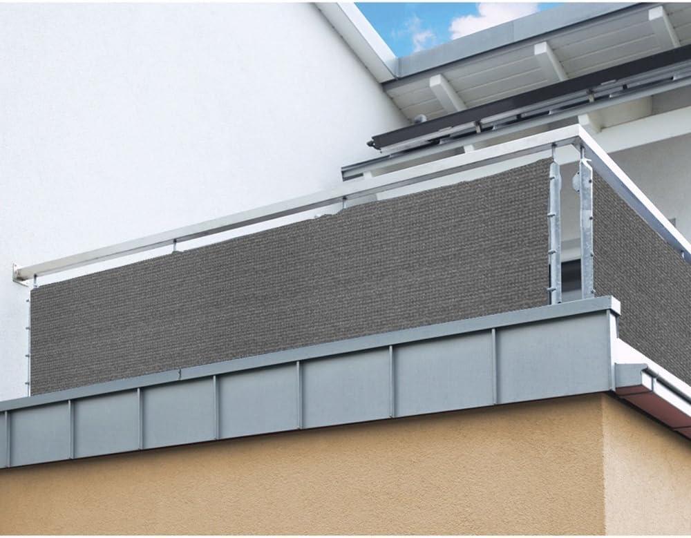 Balkon Sichtschutz Nach Mass In Grau Meterware Langlebiges Uv Bestandiges Hdpe Gewebe Mit Metallosen Farbwahl Amazon De Kuche Haushalt