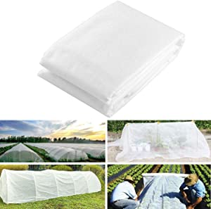 FINEST+ Plant Covers Freeze Protection 8ft×24ft, Reusable Floating Row Cover for Cold Weather, Garden Winterize Cover for Winter Frost Protection