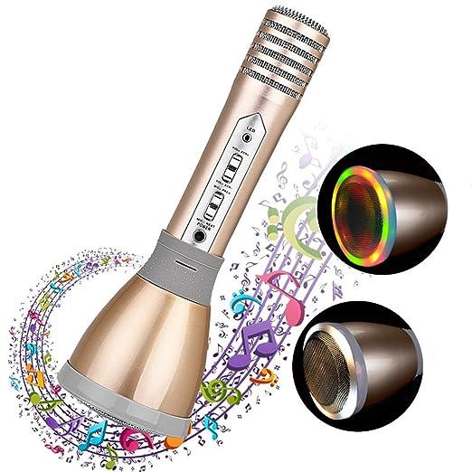 6 opinioni per Microfono Per Karaoke, lettore musicale connessione bluethooth con supporto con