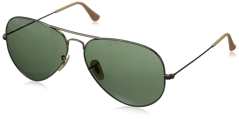 green aviators  Amazon.com: Ray-Ban AVIATOR LARGE METAL - ANTIQUE GOLD Frame GREEN ...