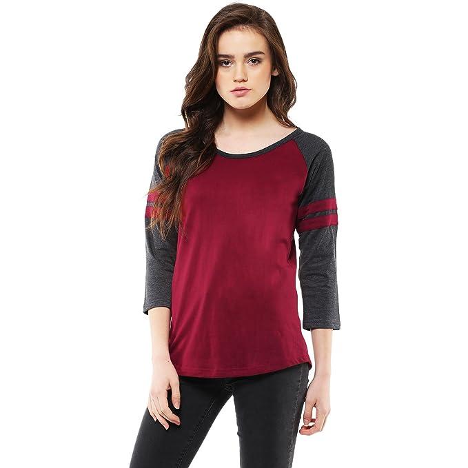 8711f6a7e2c44a Veirdo Women s Cotton T-Shirt  Amazon.in  Clothing   Accessories