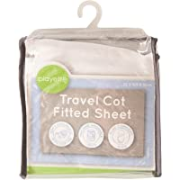 Playette Travel Cot Fitted Sheet, White