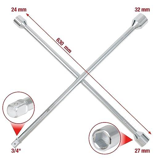 KS Tools 518.1155 Llave en Cruz para Ruedas: Amazon.es: Bricolaje y herramientas