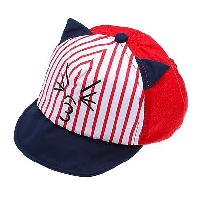 Amazon.com  Baby Cap Baby Baseball Cap Hat Cartoon Cat Sun Hat for ... 5c2510211f4