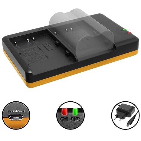 Cargador Doble (Corriente, USB) para Konica Minolta NP-400 ...