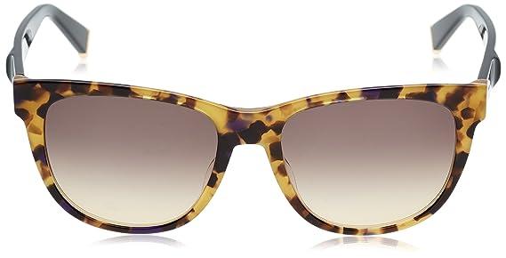 Max Mara Damen Sonnenbrille mm Modern V ED U7Y, Gelb (Yllwhvn Black/Brown Ds), 55