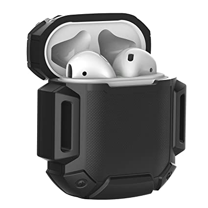 detailed look 525c3 1c90f Moretek Silicone Protective Airpods Accessories Cases Cover for Apple  Airpods & Airpods2 & Airpods 2 Charging Case (Black)
