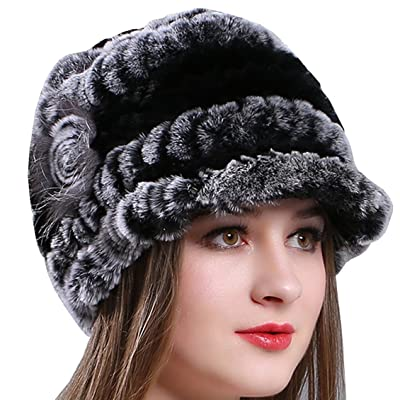 ccf7053b73012 AnKoee Chapeau Casquette Femme Hiver Fausse Fourrure Chapkas Fille Bonnet  Chapeaux