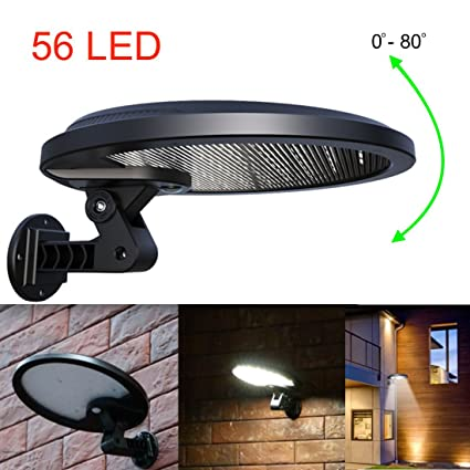 Lovely iRSE Solar Light 56 LED Security Motion Sensor Lights Wall Wireless Lighting Waterproof Outdoor front back Simple Elegant - Review motion sensor lamp outdoor Plan