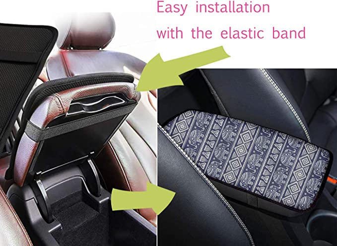 Micandle Daisy 5pcs Car Protector Interior Accessories for Women Men,Center Console Armrest Cover,Car Coasters,Knob Lever Cover,Hand Brake Cover