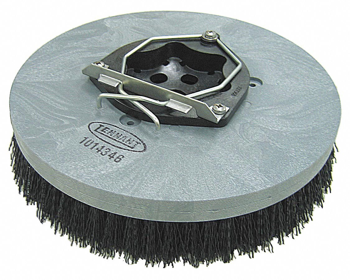 16'' Round Cleaning, Scrubbing Rotary Brush for 32'' Machine Size, Black
