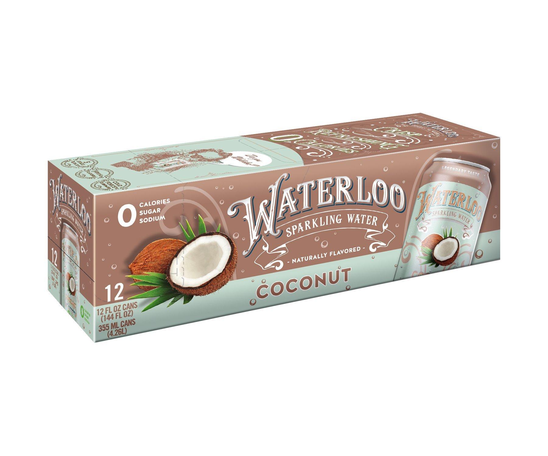 Amazon Waterloo Sparkling Water Black Cherry Fruit Flavor Zero