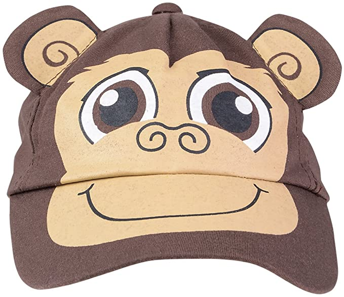 ba8299d4f7c03 Amazon.com  Kids Adjustable Brown Monkey Animal Zoo Baseball Cap Costume Hat   Clothing