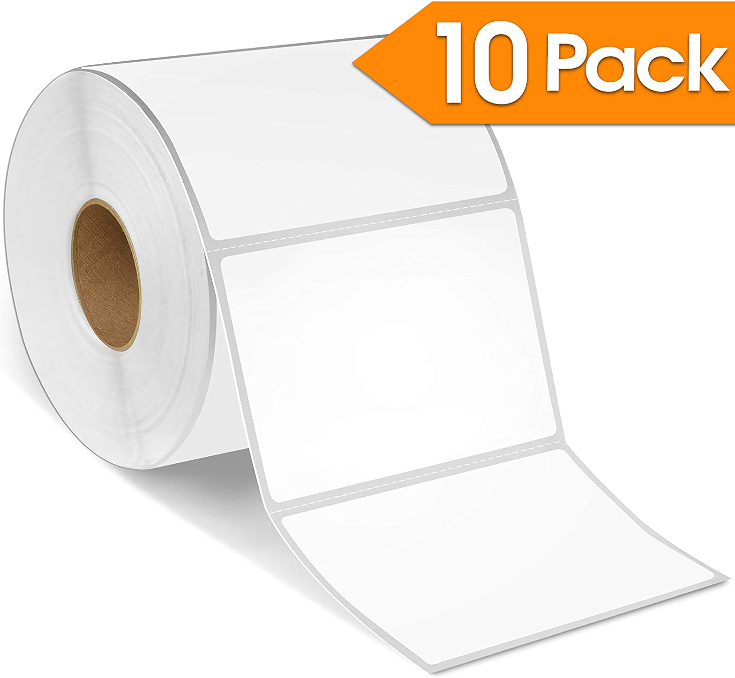 """3"""" X 2"""" Direct Thermal Labels, Perforated Postage Shipping Labels, Compatible with Rollo & Zebra Desktop Printers - 10 Rolls, 700/Roll"""