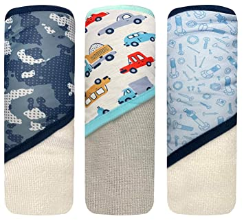 Boys /& Girls Baby Hooded Towels Set MODERN BABY Hooded Baby Bath Towel Set with Five Washcloths for Newborns Infants /& Toddlers