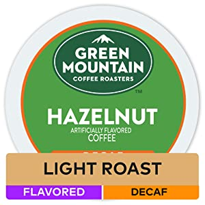 Green Mountain Coffee Roasters Hazelnut, Single Serve Coffee K-Cup Pod, Decaf, 72