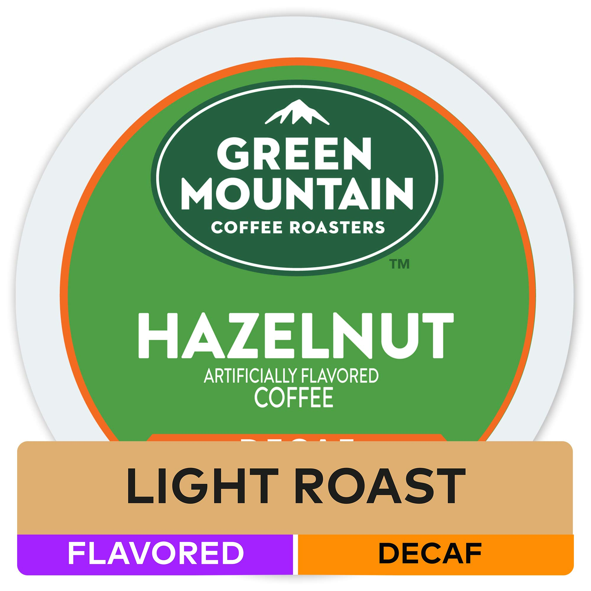 Green Mountain Coffee Roasters Hazelnut, Single Serve Coffee K-Cup Pod, Decaf, 12 Count (Pack of 6) (Packaging May Vary)