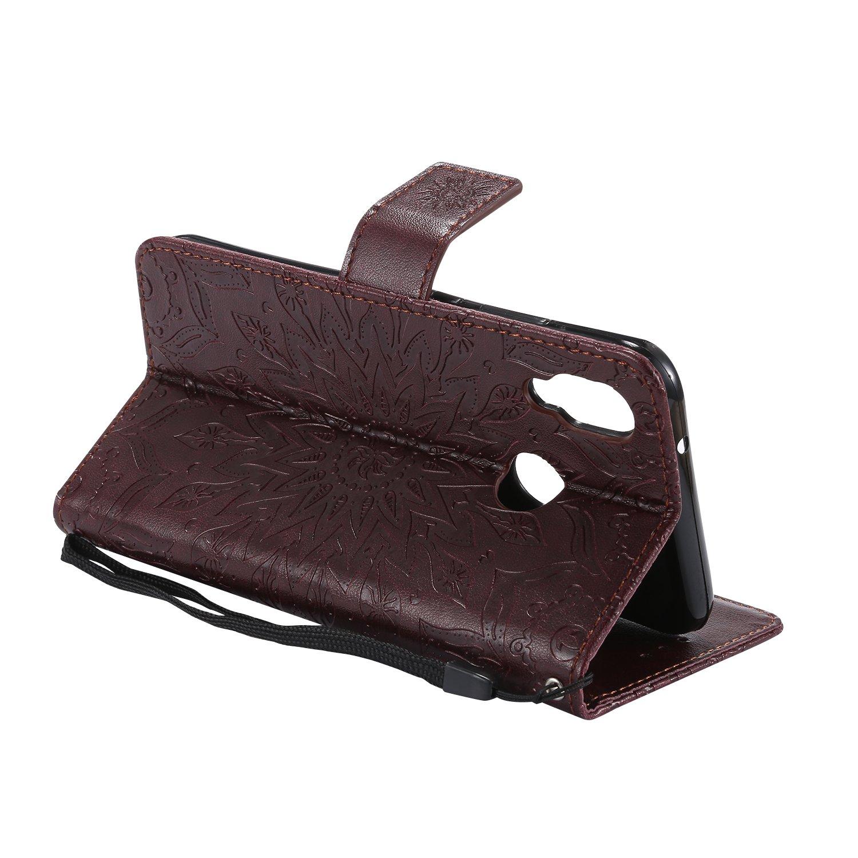 Schutzh/ülle Leder Tasche Flip Case f/ür Huawei P20 Lite Handy H/üllen Lederh/ülle D/ünn Silikon Handytasche Leder Magnet Cover f/ür Huawei P20 Lite Nicht f/ür P20 Hancda H/ülle f/ür Huawei P20 Lite