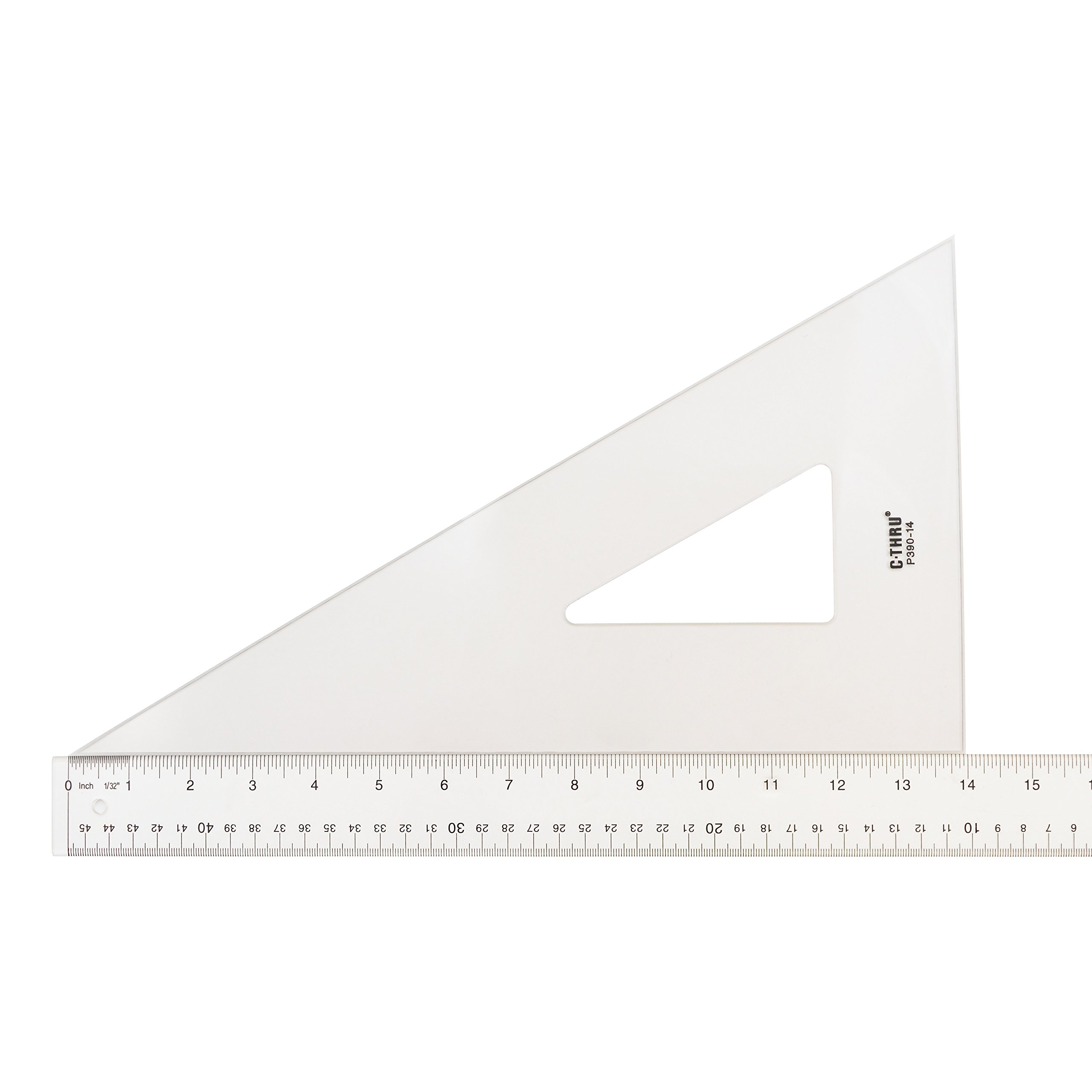 Westcott Professional Triangle, 14'', 30/60 Degree, Transparent (P390-14) by Westcott