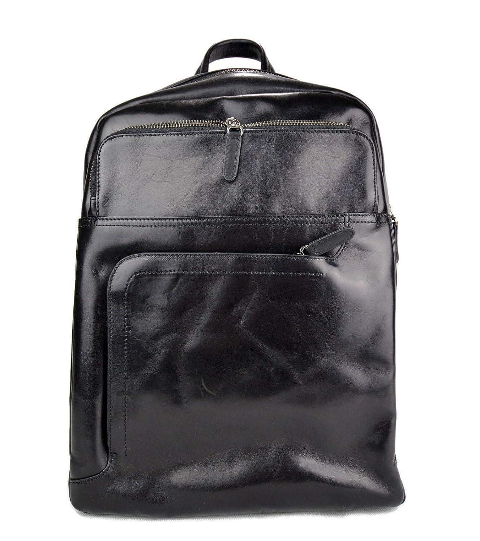 Mochila de piel mochila piel mochila negro hombre mujer