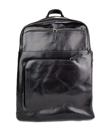 Mochila de piel mochila piel mochila negro hombre mujer mochila de viaje mochila de cuero mochila